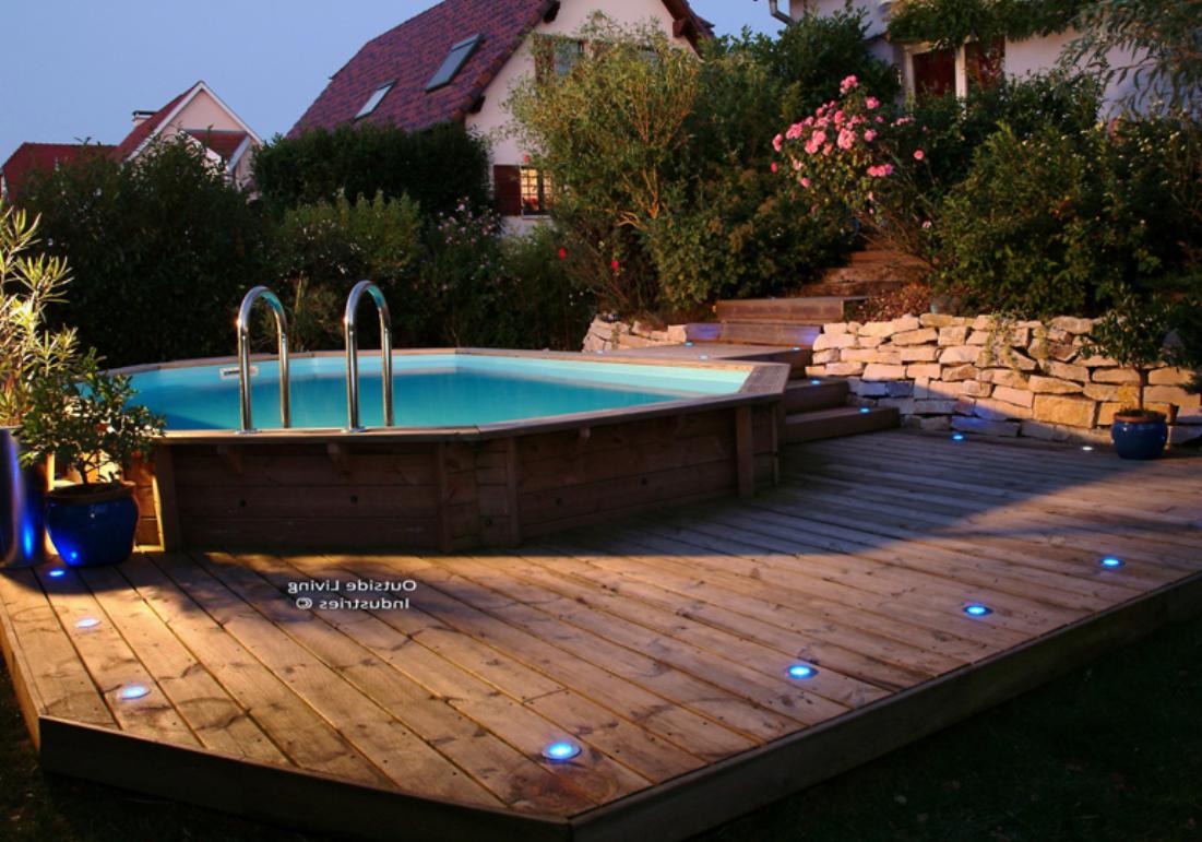 Eclairage piscine semi enterree - Amenagement piscine semi enterree ...