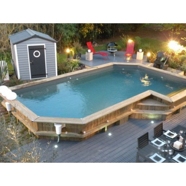 eclairage piscine semi enterree