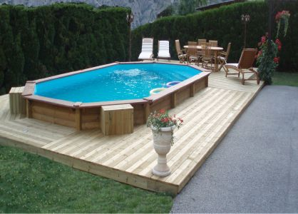 Eclairage piscine semi enterree - Piscine bois composite semi enterree ...