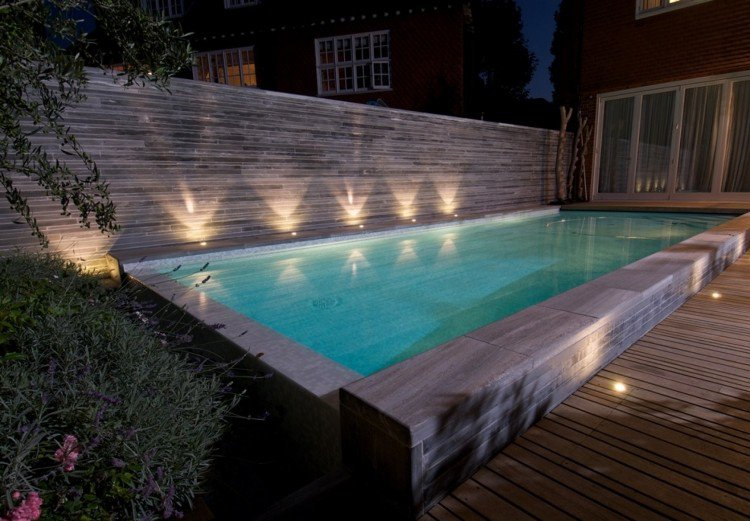 eclairage piscine spot. Black Bedroom Furniture Sets. Home Design Ideas