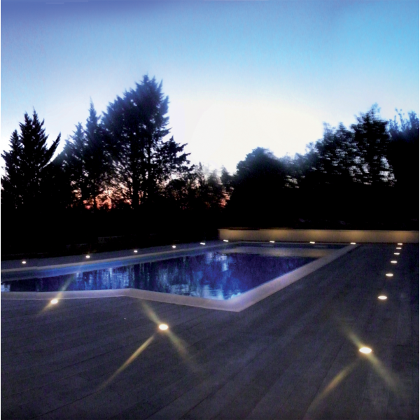 eclairage piscine terrasse