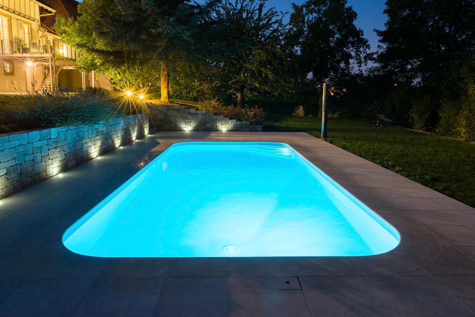 eclairage piscine waterair