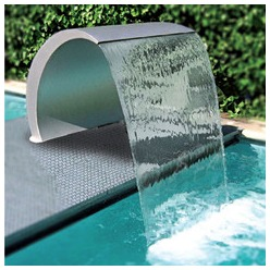 fontaine piscine inox