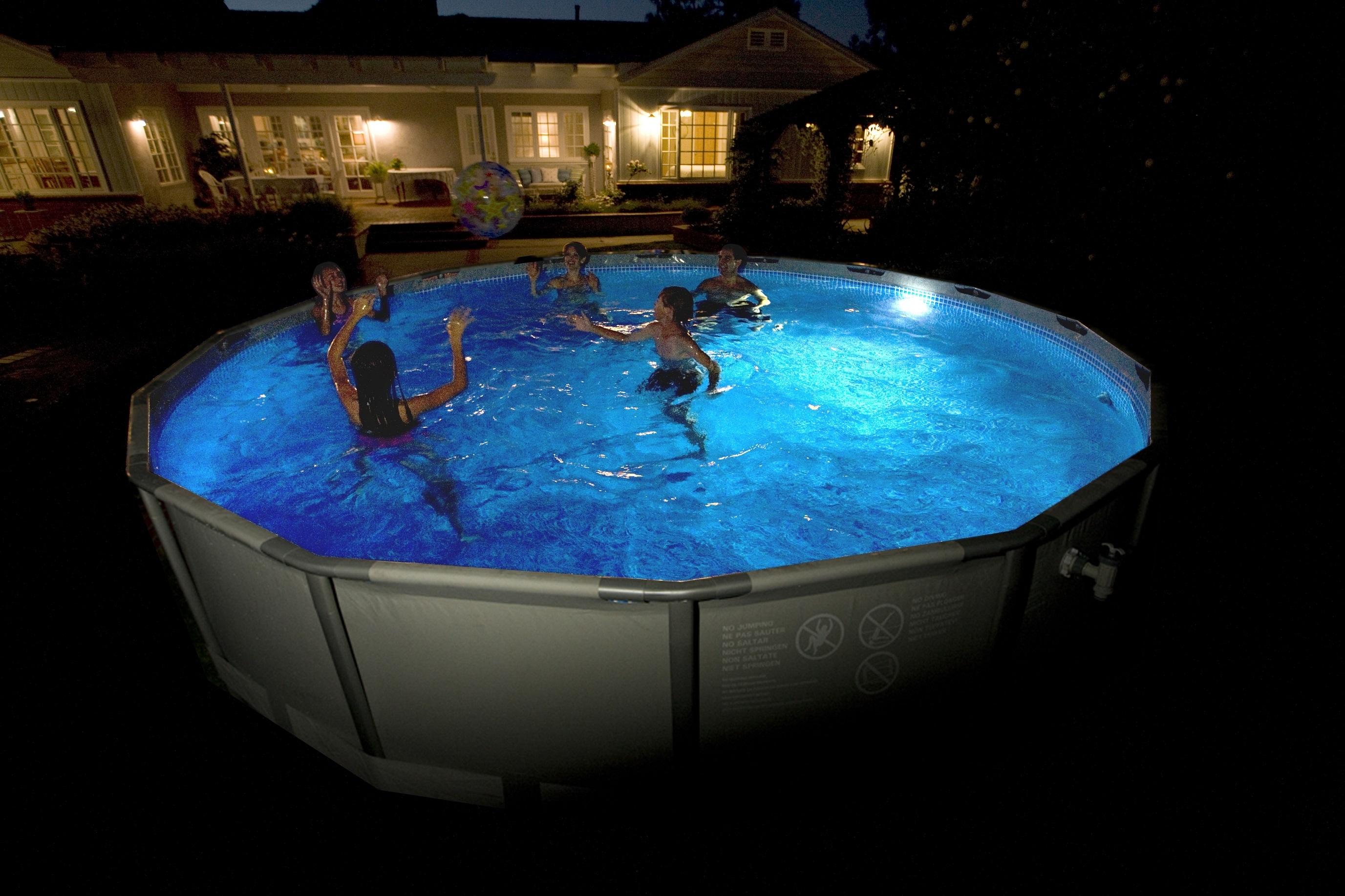lumiere piscine intex. Black Bedroom Furniture Sets. Home Design Ideas