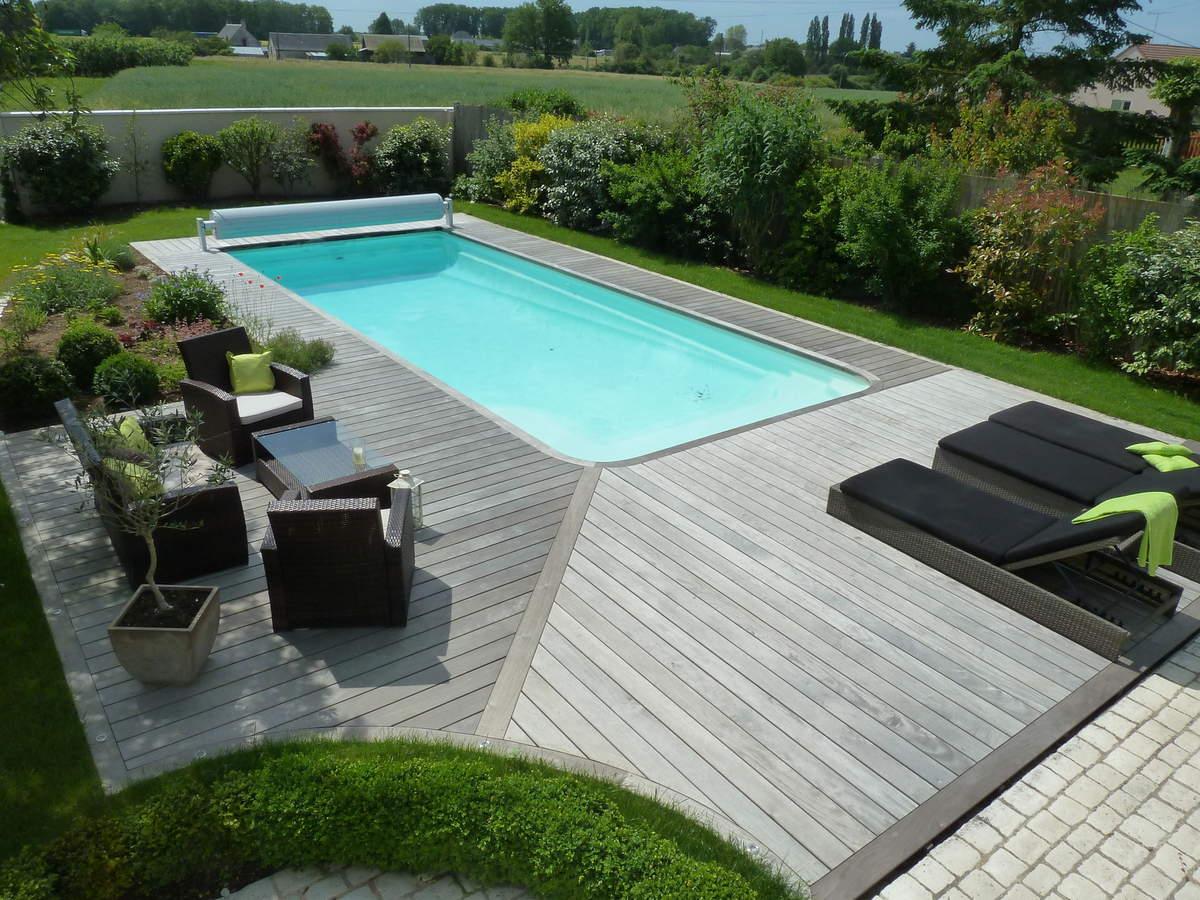 Plage piscine bois ipe - Amenagement terrasse piscine ...