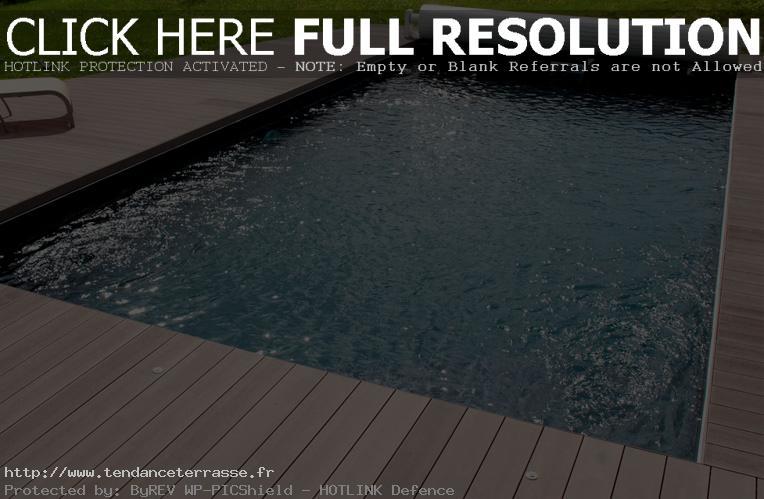 plage piscine bois ou carrelage