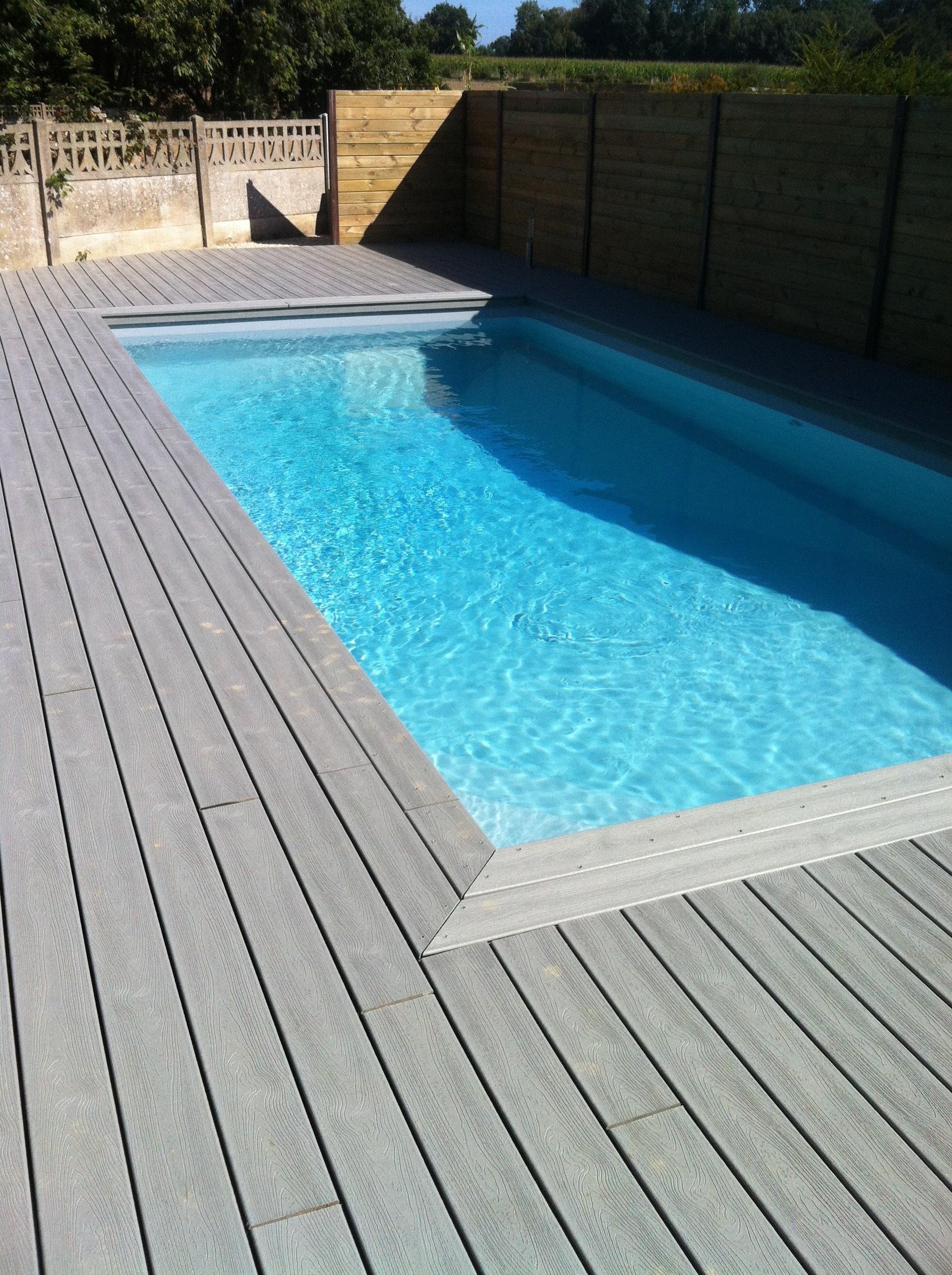 plage piscine bois