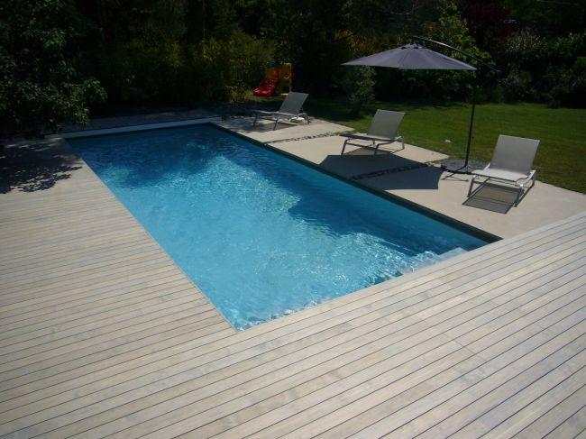 Plage piscine deck - Tour de piscine en bois ...