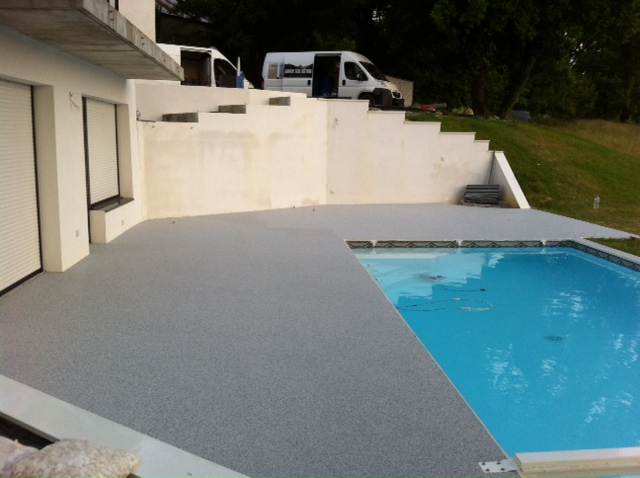 plage piscine drainante