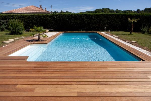 Plage piscine en bois - Tour de piscine en bois ...