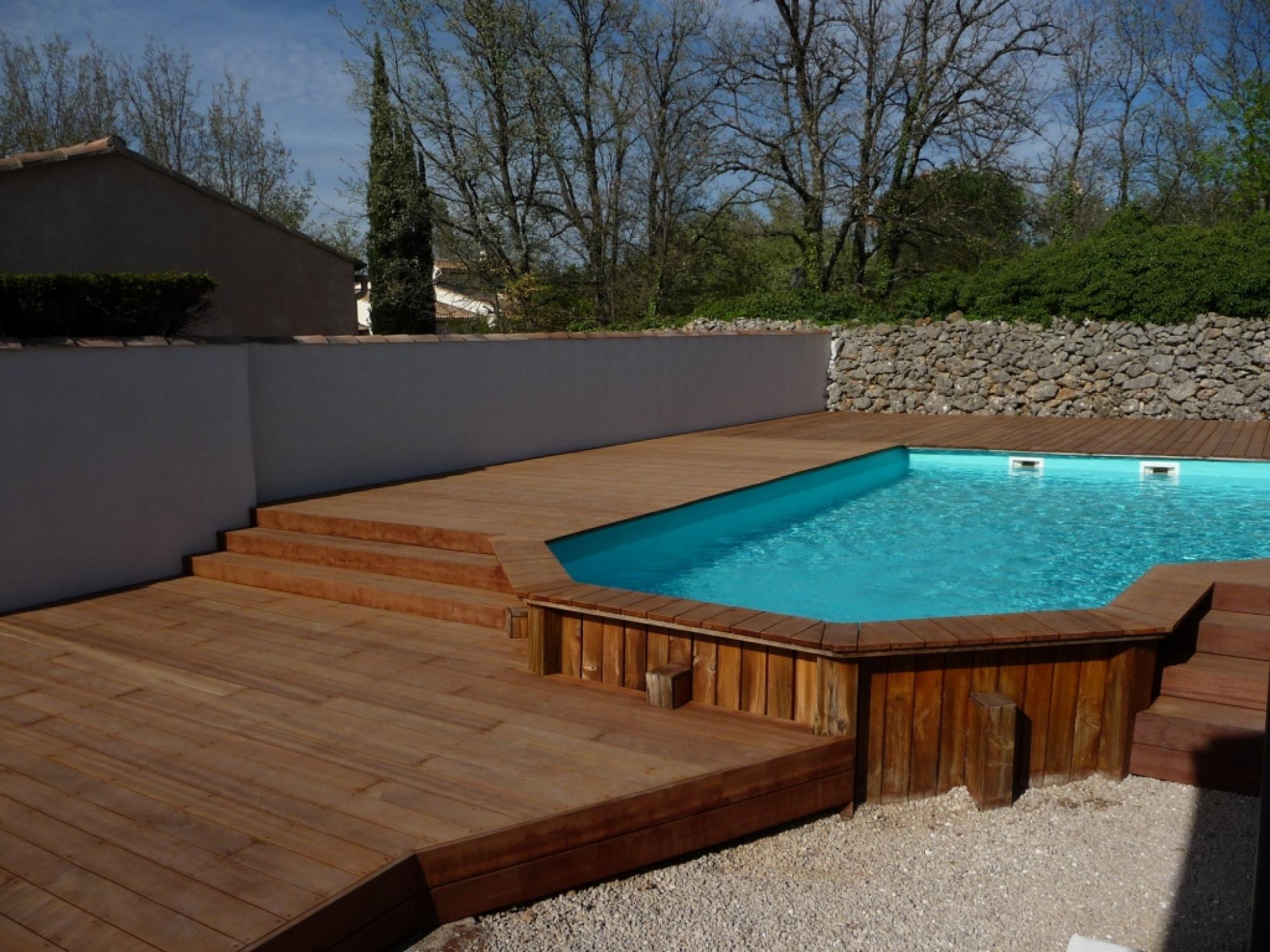 Plage piscine hors sol bois - Piscine hors sol bois espagne ...