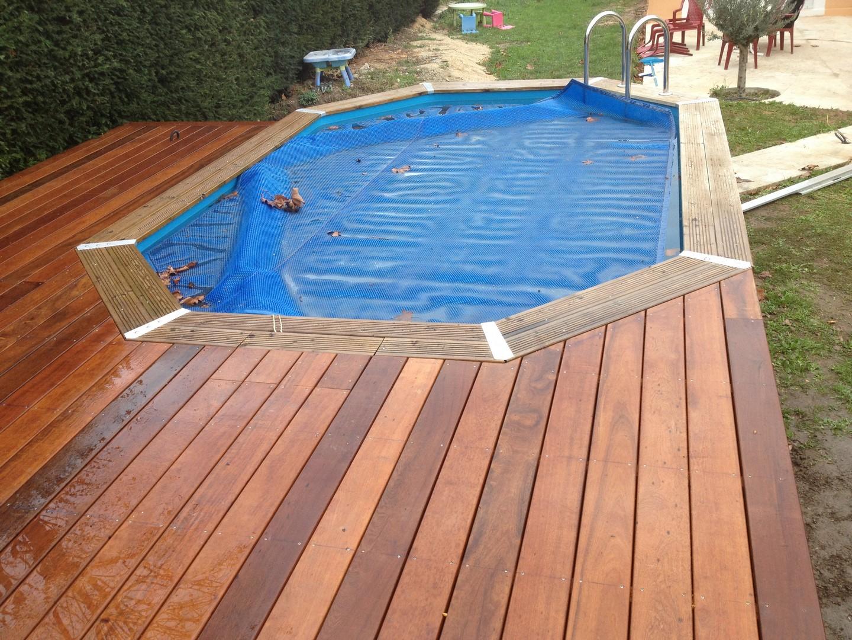 Plage piscine hors sol - Terrasse bois piscine hors sol ...