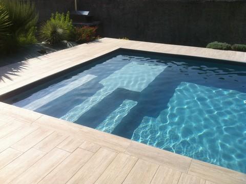 Plage piscine imitation bois - Piscine imitation bois ...