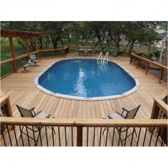 plage piscine ovale