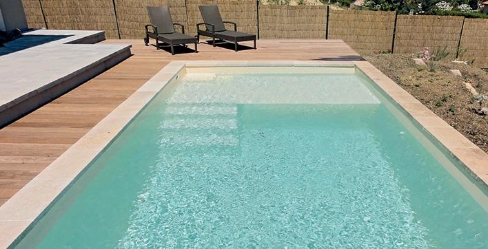 plage piscine profondeur