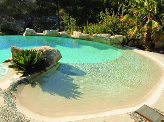 plage piscine sable resine. Black Bedroom Furniture Sets. Home Design Ideas