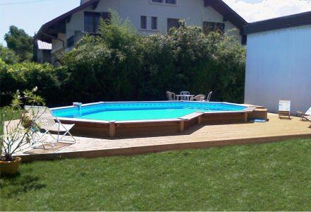 Plage piscine semi enterree - Piscine semi enterree acier ...