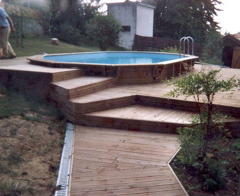 plage piscine sur pilotis