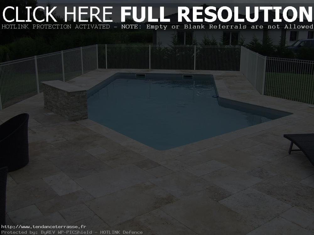 plage piscine travertin gris