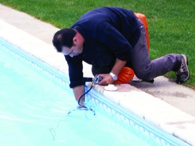 projecteur piscine changer ampoule