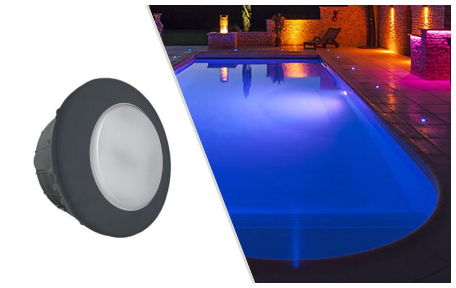 projecteur piscine led gris anthracite
