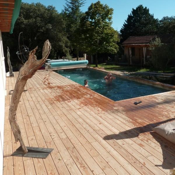 terrasse piscine bois douglas