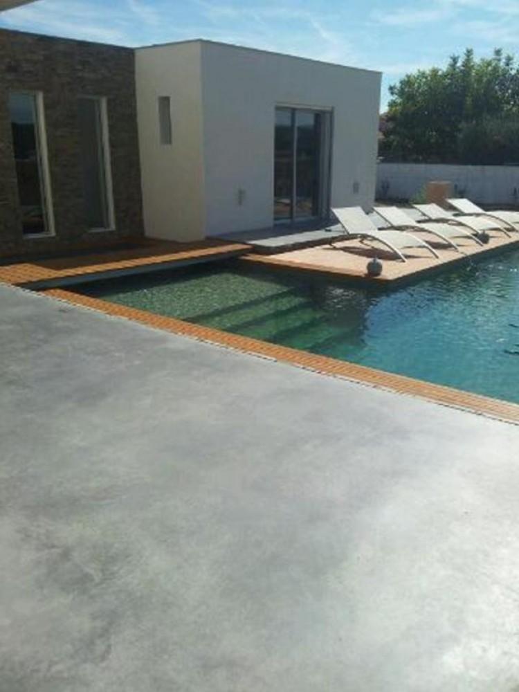 Terrasse piscine bois et beton - Tour de piscine en bois ...