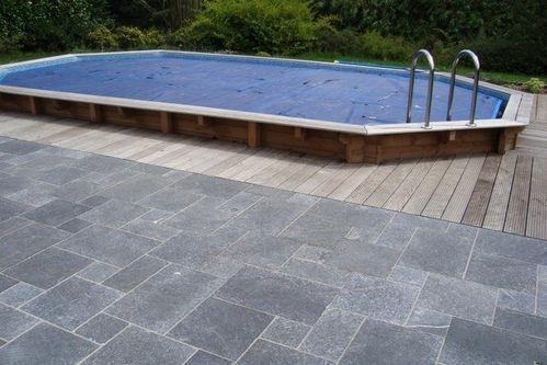 terrasse piscine bois et pierre. Black Bedroom Furniture Sets. Home Design Ideas