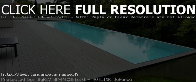 terrasse piscine bois gris