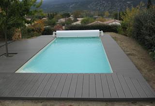 Terrasse Piscine Composite Gris