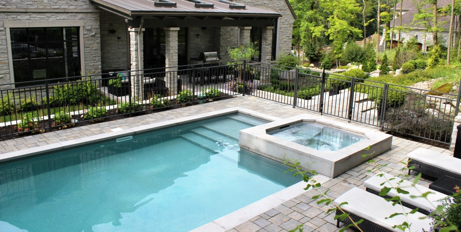 terrasse piscine creusee