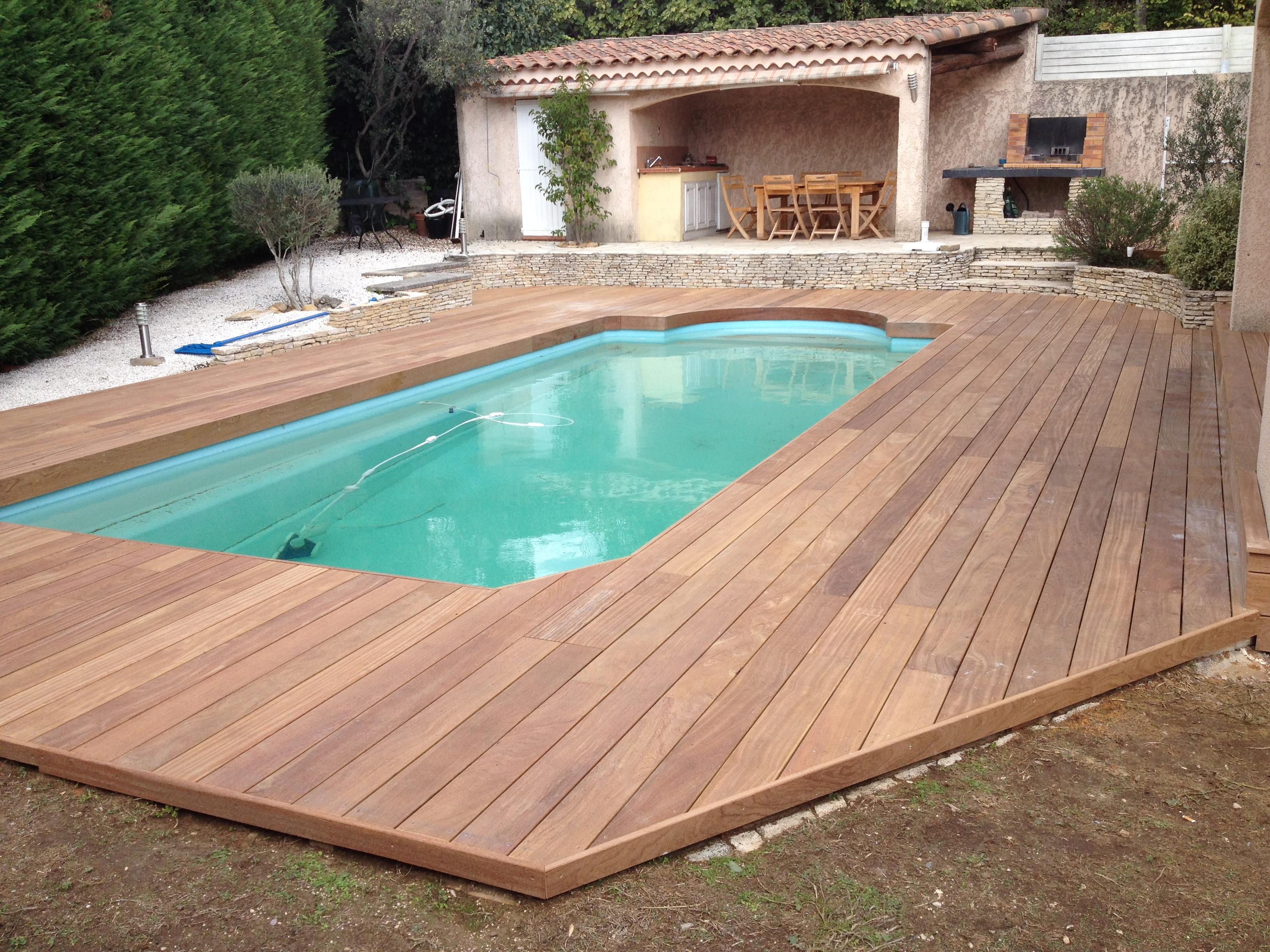 terrasse piscine en cumaru