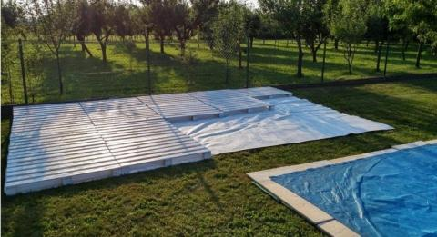 terrasse piscine en palette