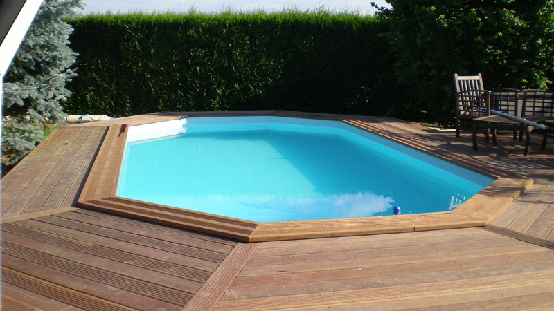 Terrasse Piscine Hexagonale