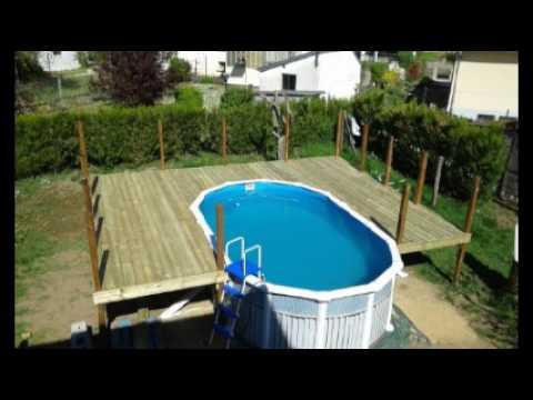 Terrasse piscine hors sol palette - Construire une piscine hors sol ...