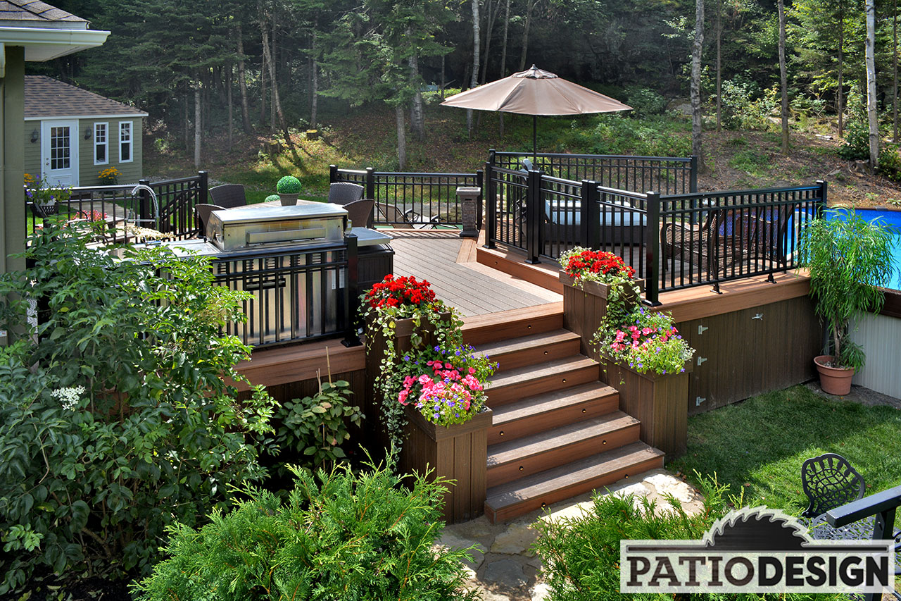 Terrasse piscine hors terre - Amenagement terrasse piscine ...