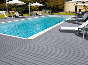 terrasse piscine lame composite