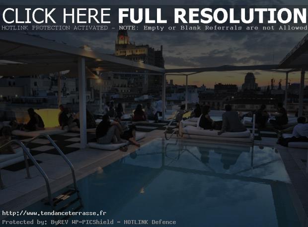 terrasse piscine madrid