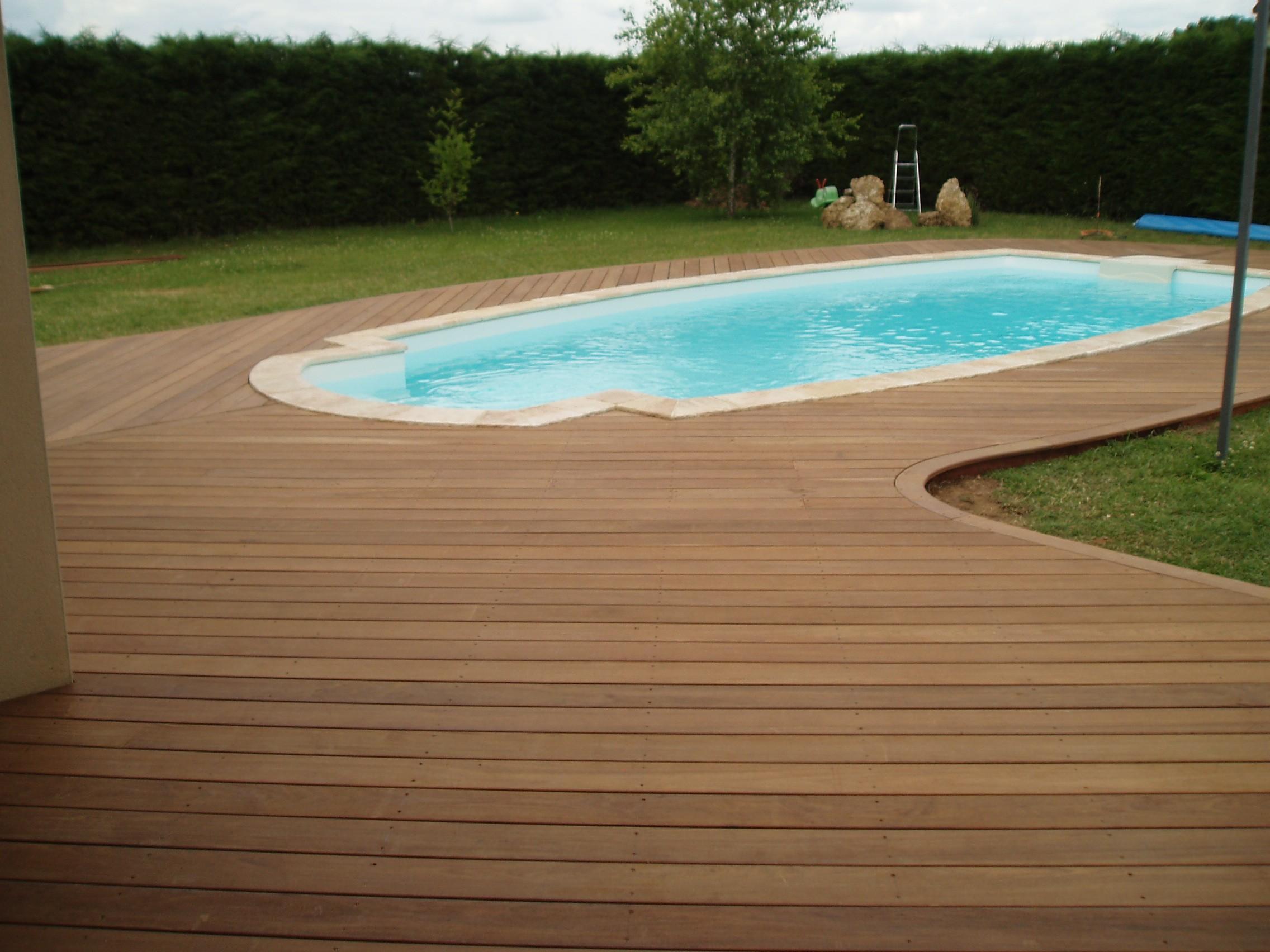 Terrasse piscine mixte Piscine en bois prix