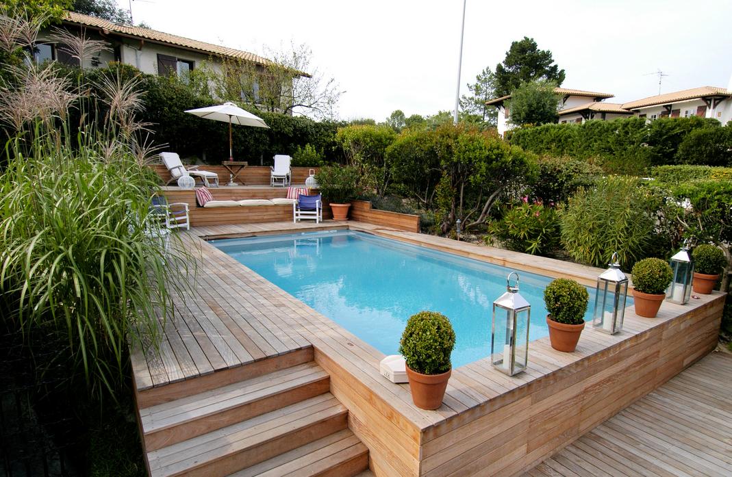 terrasse piscine semi enterree