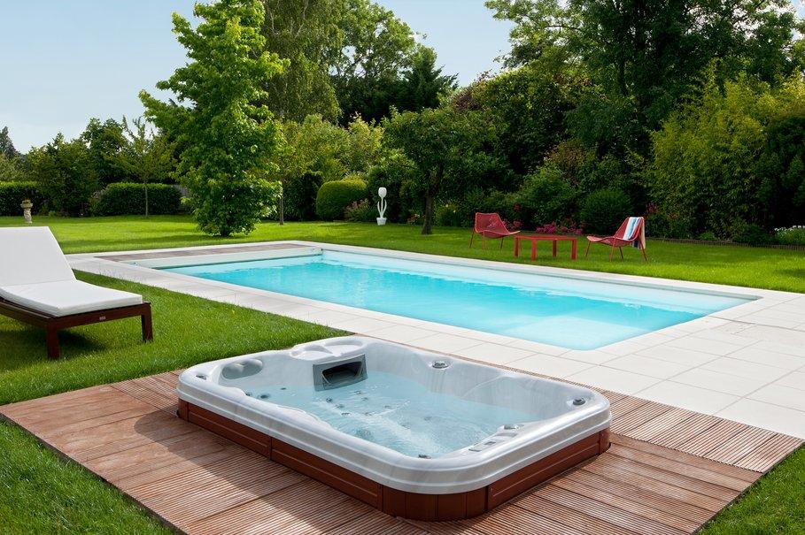 Terrasse piscine spa - Piscine jardin ...