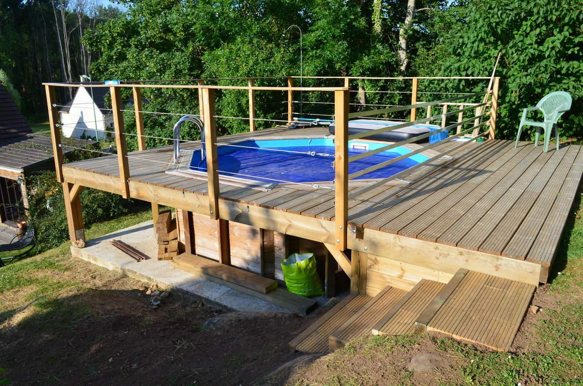 terrasse piscine sur pilotis