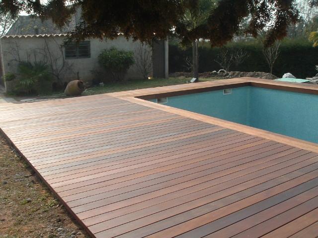terrasse piscine teck