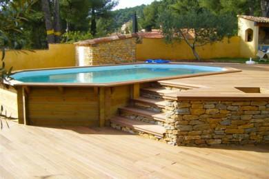 amenagement piscine bois hors sol