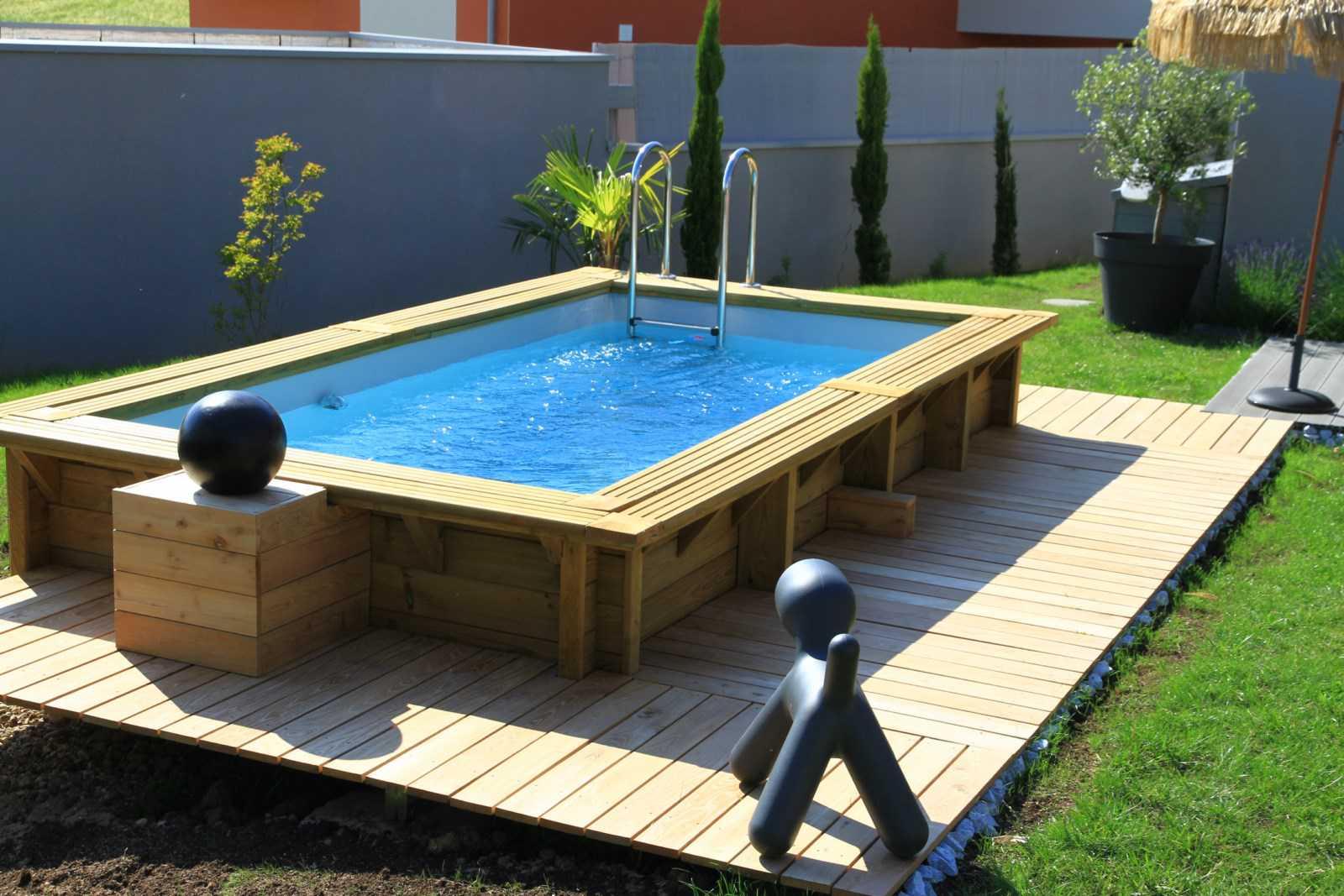 amenagement piscine bois photo