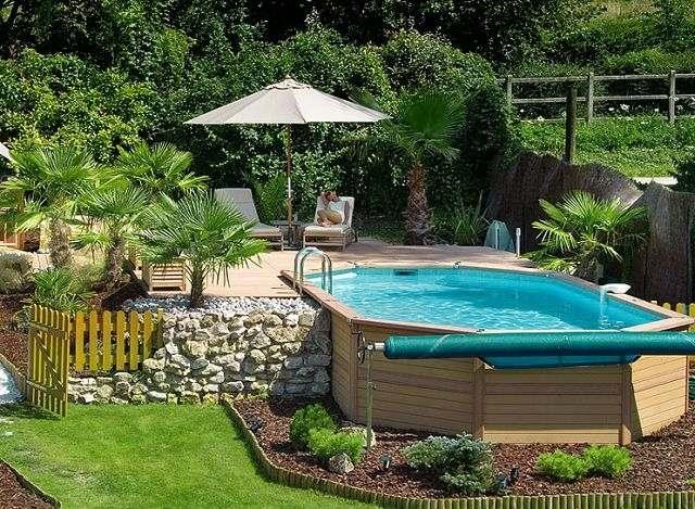 amenagement piscine hors sol ovale