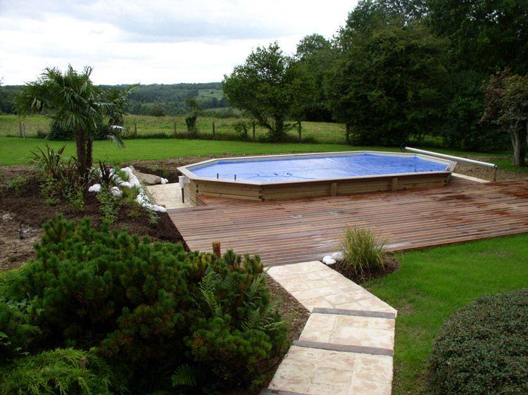 Amenagement piscine hors sol terrain en pente - Amenagement terrasse piscine ...