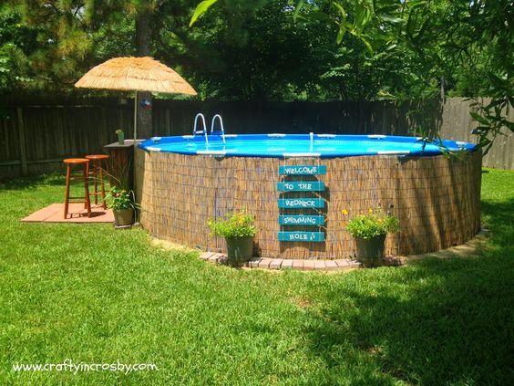 deco piscine autoportee