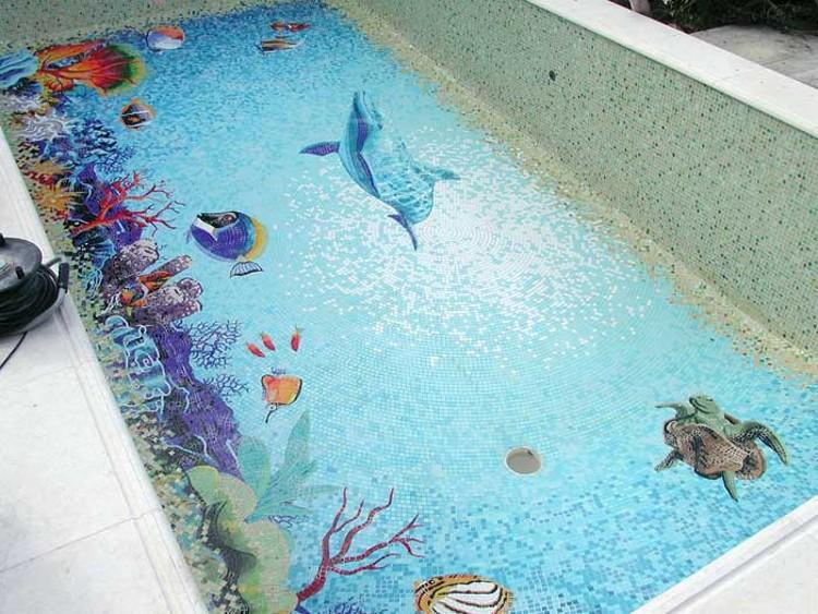 deco piscine mosaique