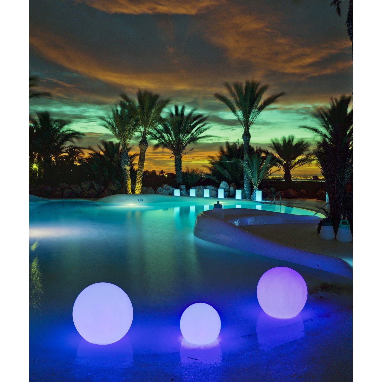 eclairage piscine boule